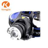 고성능 Xm-L T6 10W 알루미늄 재충전용 18650 3mode Headlamp