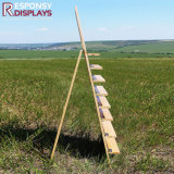 أنيق تصميم نوع خشبيّة رصيف صخري أرضية زهرة عرض حامل قفص لأنّ متجر