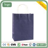 Sac en papier kraft vert Sac en papier cadeaux, vêtements sac de papier