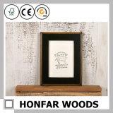Frame de retrato profundo da caixa da sombra de madeira rústica para a decoração Home