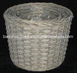 Panier de planteur de saule avec la doublure en plastique