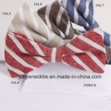 Impresso de algodão listrado Jys Bow tie002-B