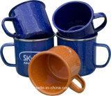 Decklack-Cup/Becher mit weißem DOT/Enamel Becher/Cup mit Becher/Cup des Schnee-DOT/Enamel mit buntem PUNKT