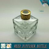 bouteille tubulaire en verre transparente carrée du diffuseur 150ml