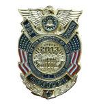 El Pin de metal Badges divisas militares del oficial de las divisas de las divisas de la policía de la carpeta