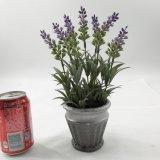 Lavanda de madera de las flores artificiales del barril Potted