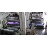O cobertor movente azul feito de 100% recicl o material de matéria têxtil