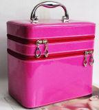 La joyería linda maquillaje de cuero retro Nueva cosmética caja