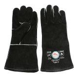 Gants de soudure anti-caloriques noirs de sûreté de main de gants de BBQ avec du ce