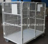 Клетка хранения складного груза пакгауза металла Stackable