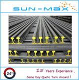 Go standard en acier pour rails de guidage Mine Light Rail 24 kg