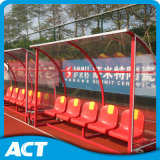 Abrigo libre del equipo de fútbol de la calidad de China, asientos portables del cobertizo del balompié con precio barato