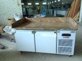 Refrigerador superior de mármol del vector de trabajo de acero inoxidable para la comida fría