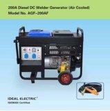 Generatore diesel del saldatore di CA di raffreddamento ad aria di CC 200A a doppio uso