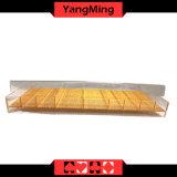 Bandeja transparente de acrílico de la viruta de póker con la caja Ym-CT04 de la viruta del casino de la cubierta