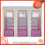 Деревянные портативный косметические кабинеты дисплея для магазина
