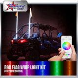 Personalizar antena off-Road com erros da liberação rápida do tamanho 1.2m 1.5m 1.8m vermelha/azul/verde/a ambarina/a branca de 12V ATV UTV Rzr do carro da decoração da luz do diodo emissor de luz da bandeira da luz