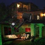 Jardim ao ar livre verificável da estrela nova decoração clara impermeável remota Green+Red do Natal do laser/claro do sensor