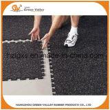 Anti-Shock 50x50cm imbrication des tapis en caoutchouc pour une salle de gym