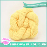 Fio de alimentação de luxo Chunky Cotton Knitting Lily Yarn