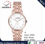 La montre des hommes de quartz de montres de cuir de montre-bracelet d'acier inoxydable (DC-8941)