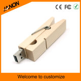 Palillo de madera del USB del clip del USB del mecanismo impulsor de bambú de madera del flash