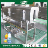 Máquina de etiquetas plástica da luva do Shrink dos frascos usando-se por semiautomático
