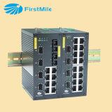Interruptor industrial controlado fibra óptica 740 do Ethernet do gigabit