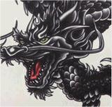 Стикеры Tattoo популярной картины дракона водоустойчивые временно
