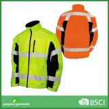 Jaqueta flexível fluorescente amarelo e laranja Hi-Vis Reflexivo Softshell