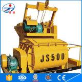 Heißer Verkaufs-große Kapazität mit DoppelBetonmischer der welle-Js500