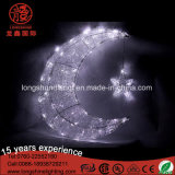 Waterproof LED Star e Moon Shape Eid Ramadan Street Lights Decoração