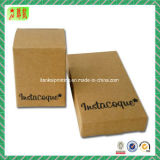 Rectángulo de papel suave impreso Custome natural del papel de Brown Kraft
