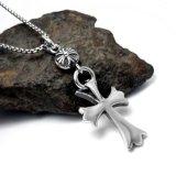 De uitstekende Dwars Zilveren Kleur van de Juwelen van de Manier van de Tegenhanger van de Halsband
