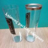شفافيّة محبوب [دمسك] أسطوانة بلاستيكيّة مع أغطية سوداء