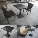 Grossista Fabricante White High Glossy Corian Acrylic Soild Surface Restaurant Cadeiras de mesa