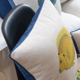 Custom напечатано хлопок постельное белье за пределами подушки