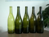 750ml 고대 녹색 유리 술병 또는 보르도 술병 Burgundy 술병