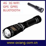 4G 3G WiFi GPS 8000mAh電池32gのメモリ警察のボディによって身に着けられている懐中電燈のカメラ