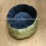 Роскошные вышивки собака кровать собака раунда кровати мягкие кровати собак