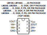 Circuito integrato Lm258 dell'amplificatore operativo CI