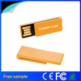 ペーパークリップの形カスタマイズされたロゴの小型USBのフラッシュ駆動機構