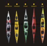 5.11m Plastic Double Ocean Kayak com pedais