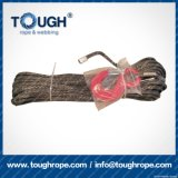 La corda nera dell'argano di 12mmx30msynthetic UHMWPE ha impostato per l'argano 4X4