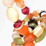 Monili elastici a più strati del regalo del braccialetto di fascino dei braccialetti & dei braccialetti dei branelli di modo per le donne