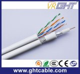 Cable de la red de Mutimedia 4p UTP Cat5e y cable coaxial RG6