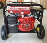 Ruedas y maneta del generador de la gasolina accionadas por el motor original Gx390 de Honda