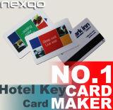 Cartes principales estampées d'hôtel de PVC avec la puce RFID