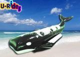 Barca di banana nera dello squalo di colore per divertimento