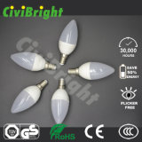 Birnen-Licht des Qualitäts-Fabrik-Preis-C37 E14/E27 3W LED